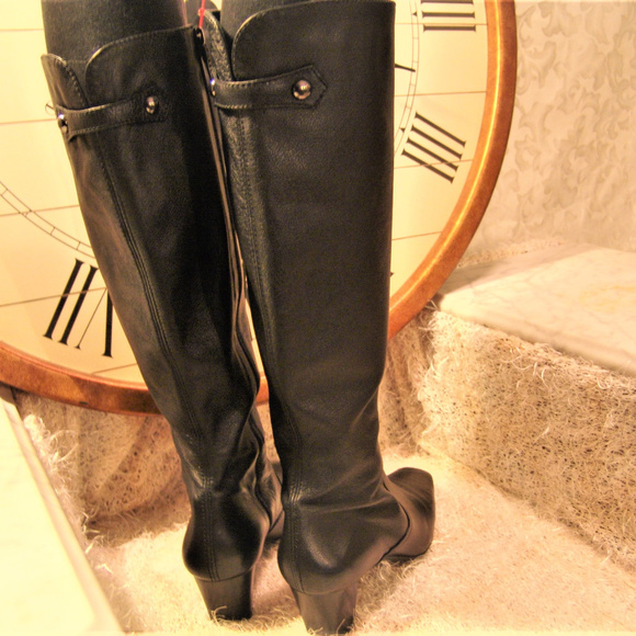 e960c3d85a5 COLE HAAN Shoes - COLE HAAN Leather BOOTS womens knee high heel 9B